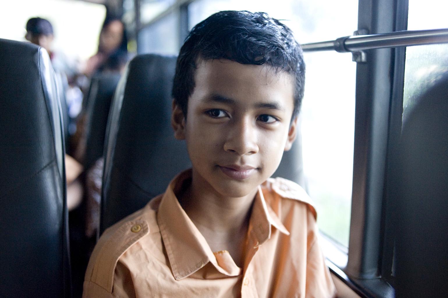 SOS children going to school Jakarta