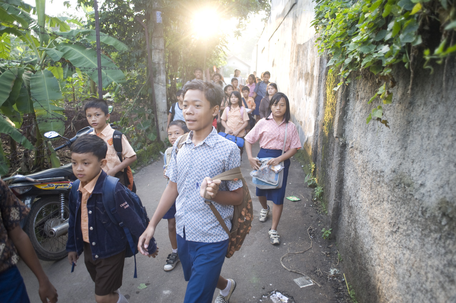 SOS children going to school Jakarta